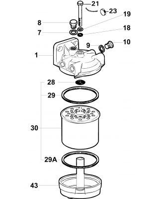 Delphi Fuel Filter Assembly 5838B250
