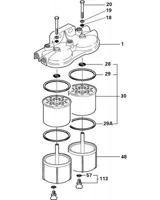 Delphi Fuel Filter (Agglomerator) 5845B670