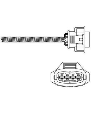 Delphi Exhaust Oxygen Sensor ES10791-12B1