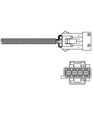 Delphi Exhaust Oxygen Sensor ES10794-12B1